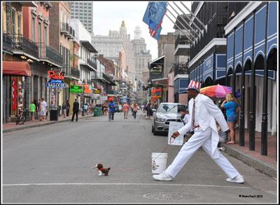 Bourbon Street s'anime de statues vivantes