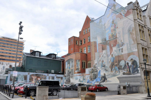 Beaucoup de fresques sont situées au niveau des enceintes de parking.