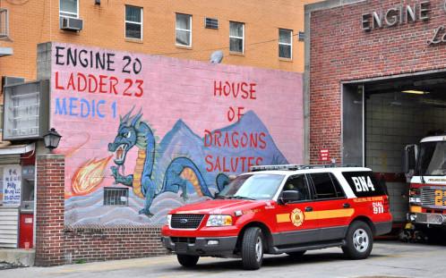 L'art mural est aussi présent chez les pompiers.