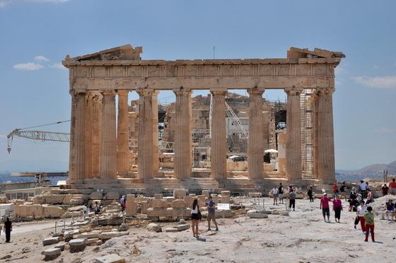 Parthénon façade restaurée