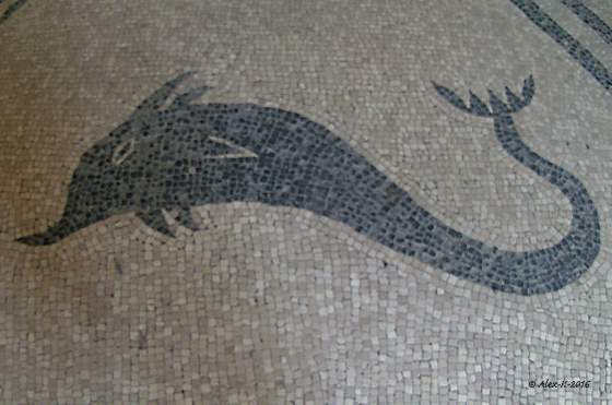Mosaïques à la thématique marine (Photo Alex K)