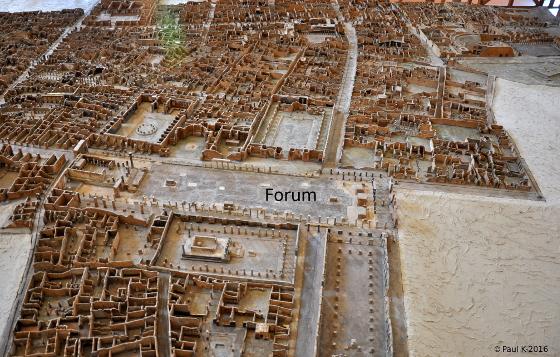 Plan relief Pompéi